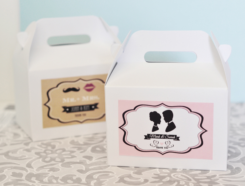 Vintage Wedding Mini Gable Boxes (set of 12) cheap favors