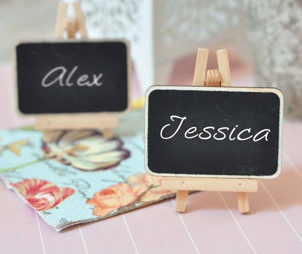 Chalkboard Place Cards cheap favors