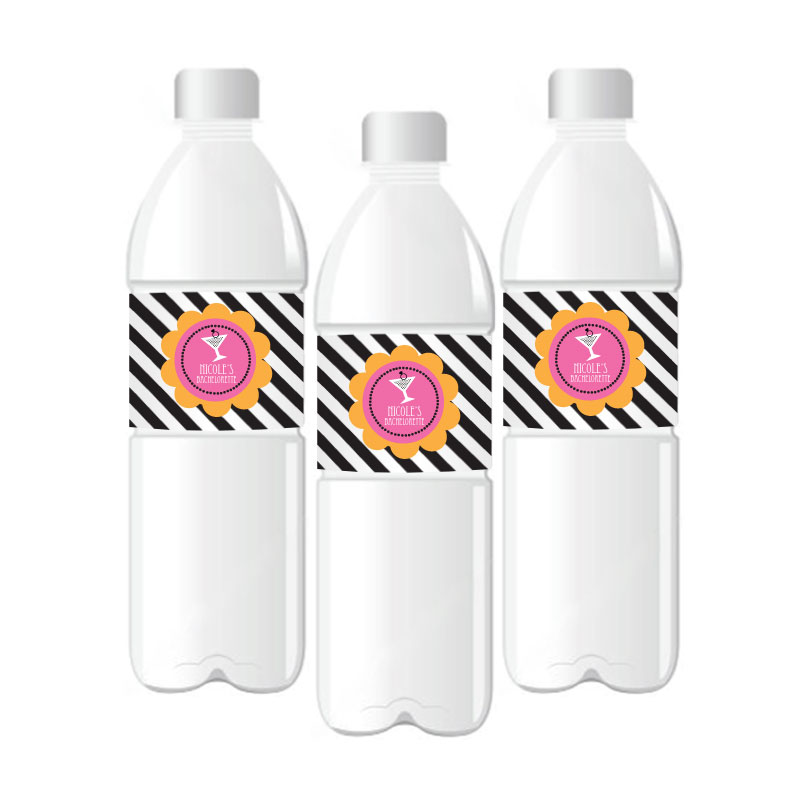 Bachelorette Party Personalized Water Bottle Labels wedding favors