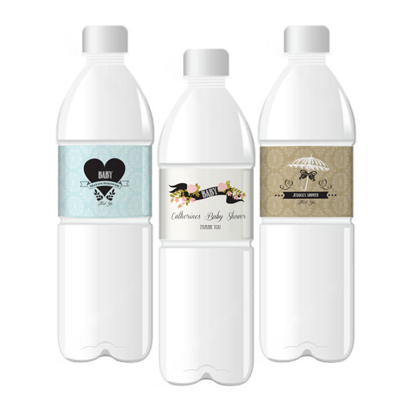 Vintage Baby Personalized Water Bottle Labels  wedding favors
