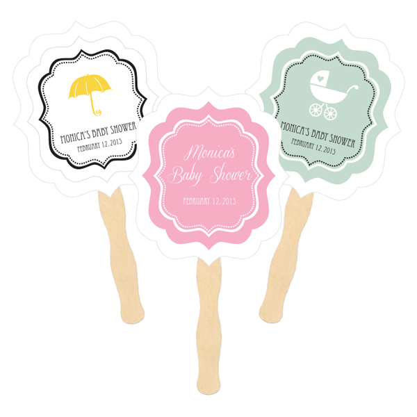 Personalized Paddle Fans - Baby  cheap favors
