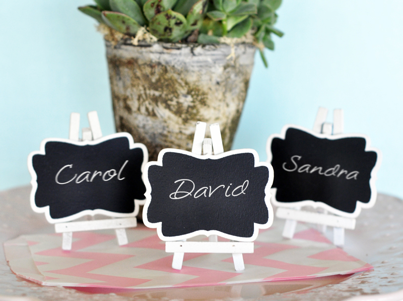 Framed Chalkboard Place Cards cheap favors