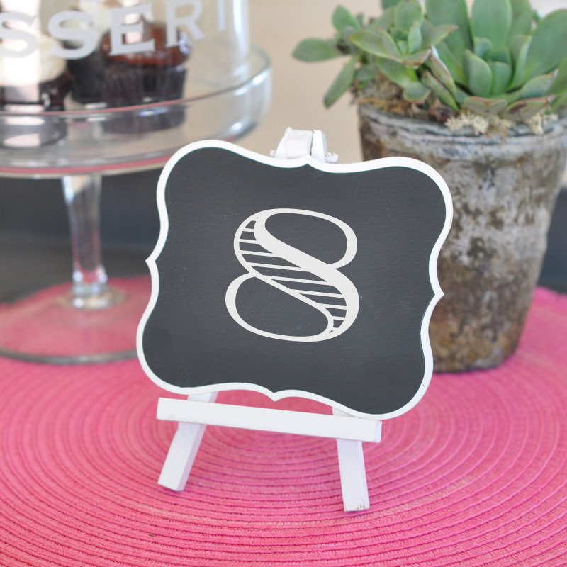 Framed Chalkboard Table Easels cheap favors