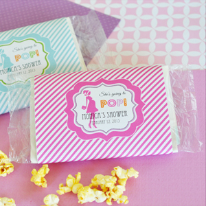 """She's going to POP"" Microwave Popcorn Bags wedding favors"