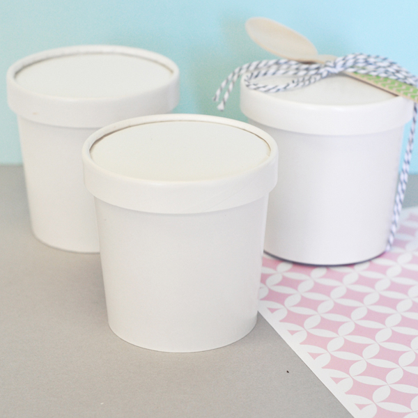 DIY Blank Mini Ice Cream Containers cheap favors