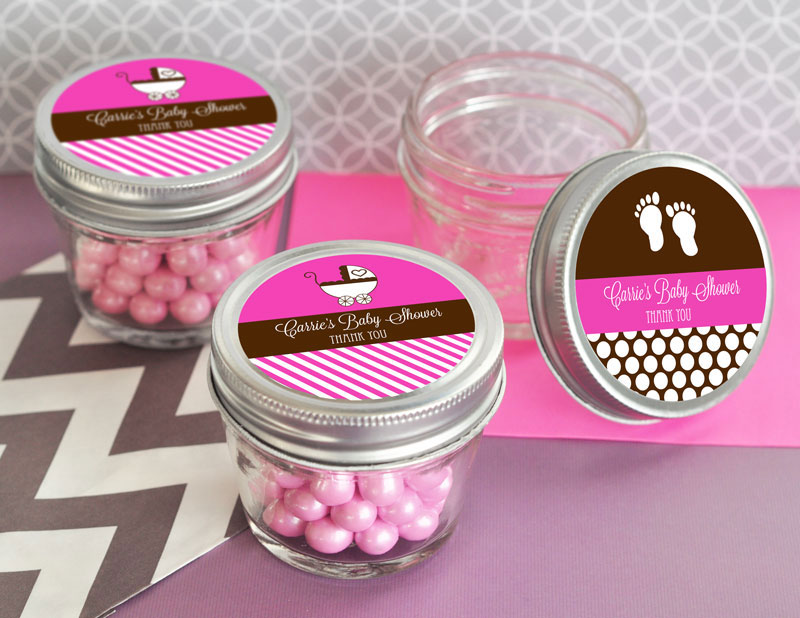 Personalized Baby Shower Small 4 oz Mason Jars wedding favors