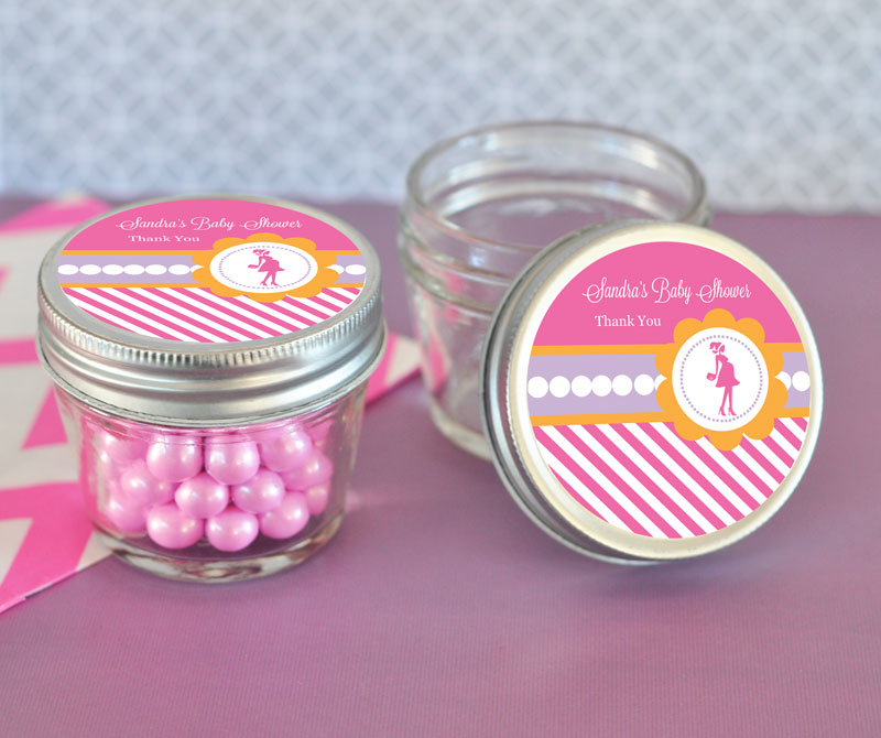 Going to Pop Pink Small 4 oz Mason Jars  wedding favors