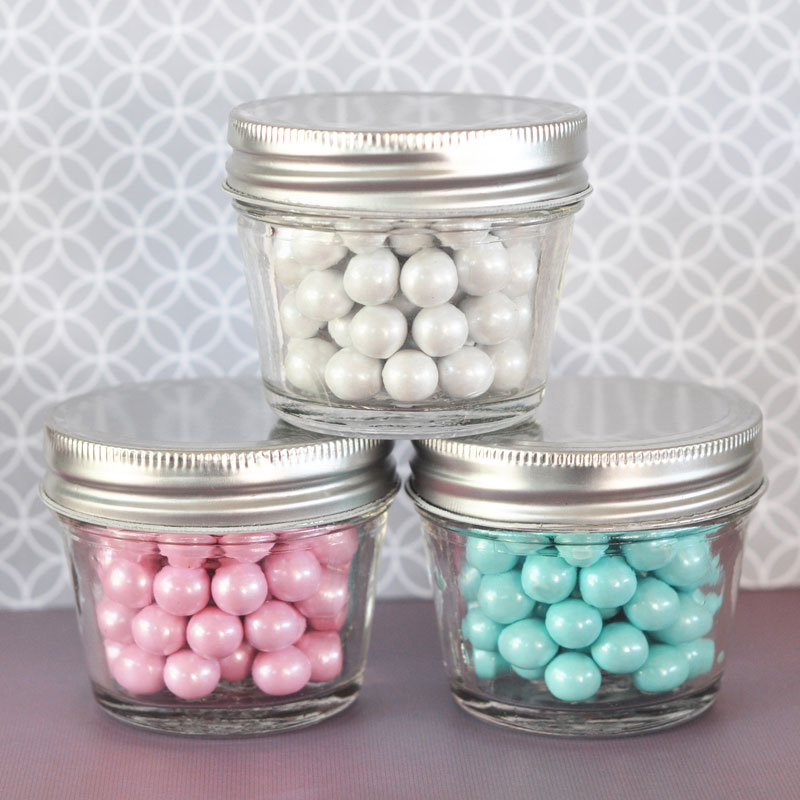 DIY Blank Small 4 oz Mason Jars  cheap favors