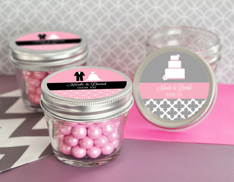 Personalized Theme Small 4 oz Mason Jars  cheap favors