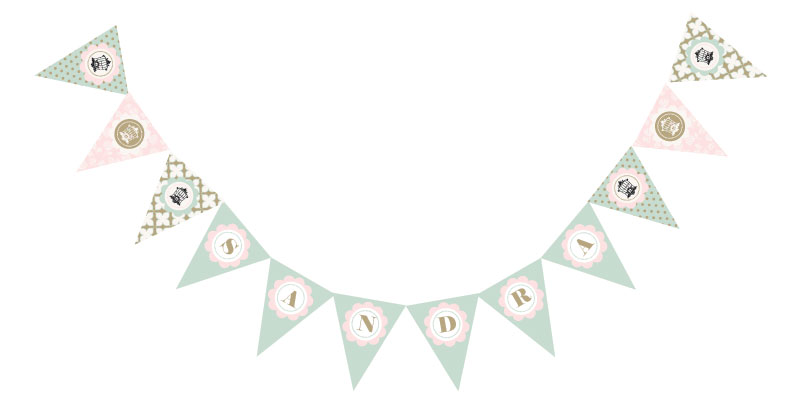 Birdcage Party Pennant Banner wedding favors