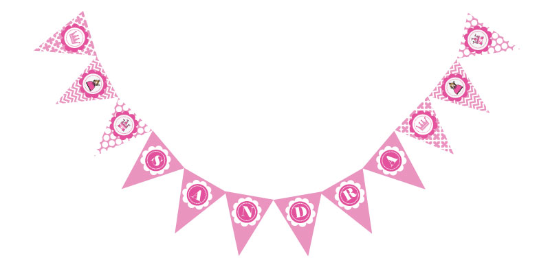 Princess Party Pennant Banner wedding favors