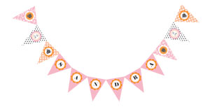 Tea Party Pennant Banner cheap favors