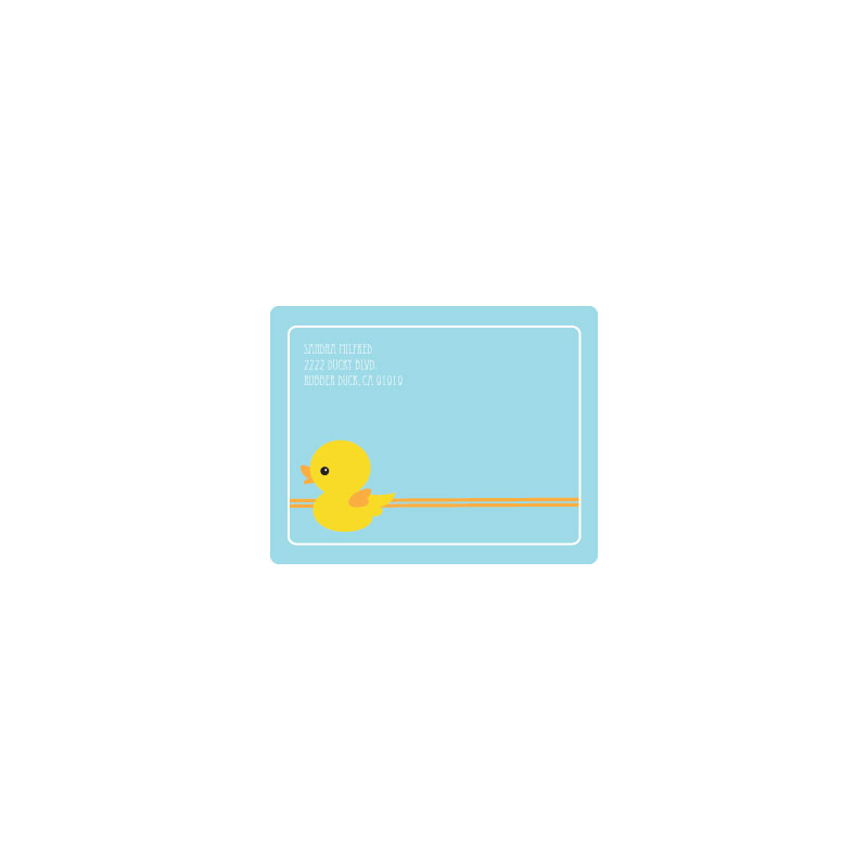 Rubber Ducky Return Address Labels wedding favors