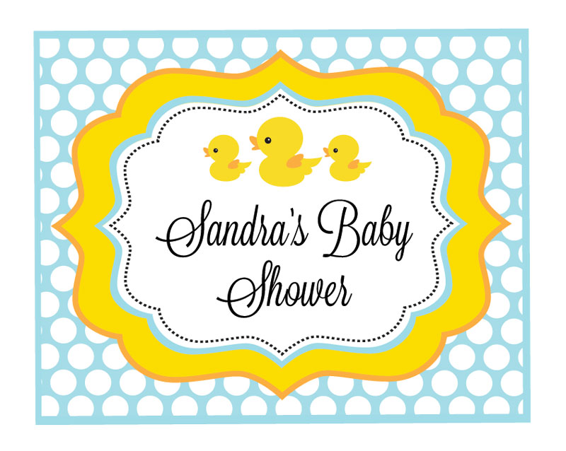 Rubber Ducky Party Sign wedding favors