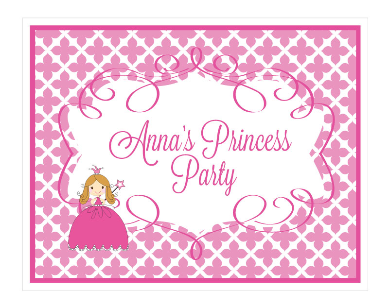 Princess Party Sign wedding favors