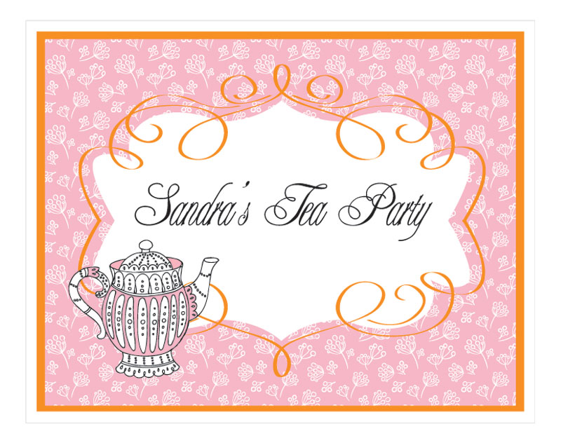 Tea Party Sign wedding favors