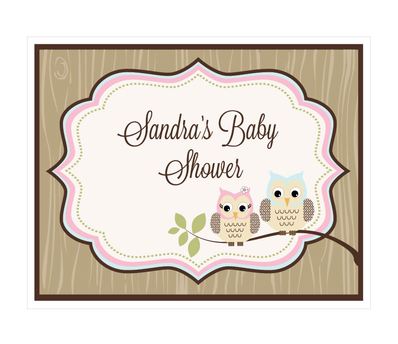 Woodland Owl Party Sign wedding favors