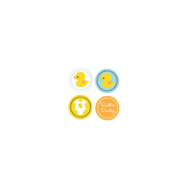 Rubber Ducky Decorative Mini Stickers (Set of 32) wedding favors
