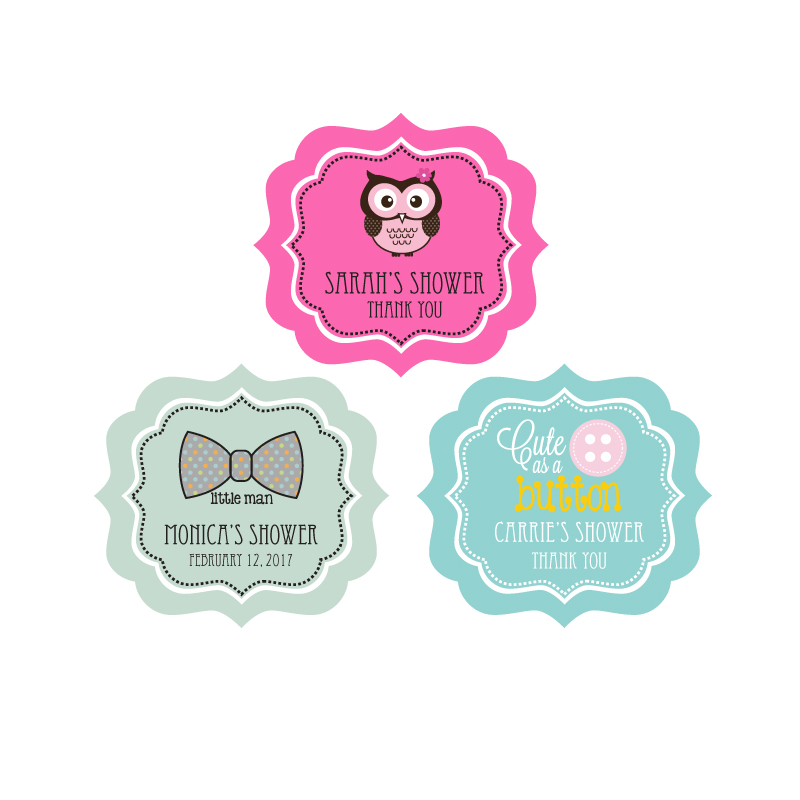 Personalized Baby Shower Frame Labels wedding favors