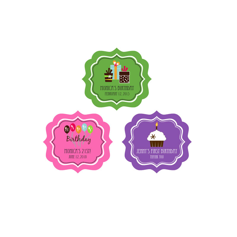 Personalized Birthday Frame Labels wedding favors