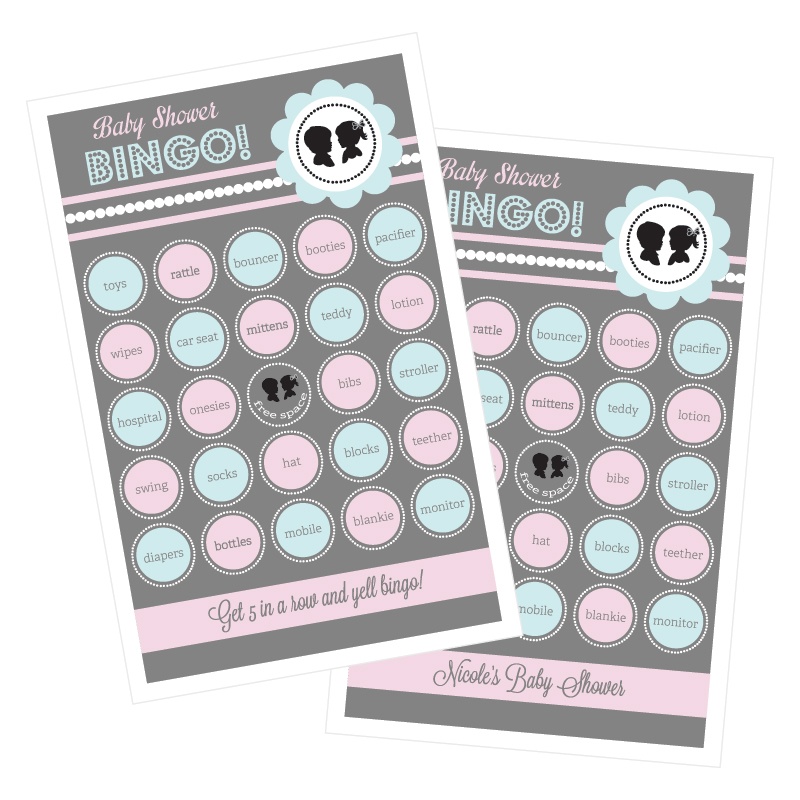 Gender Reveal Party Bingo (set of 16) wedding favors