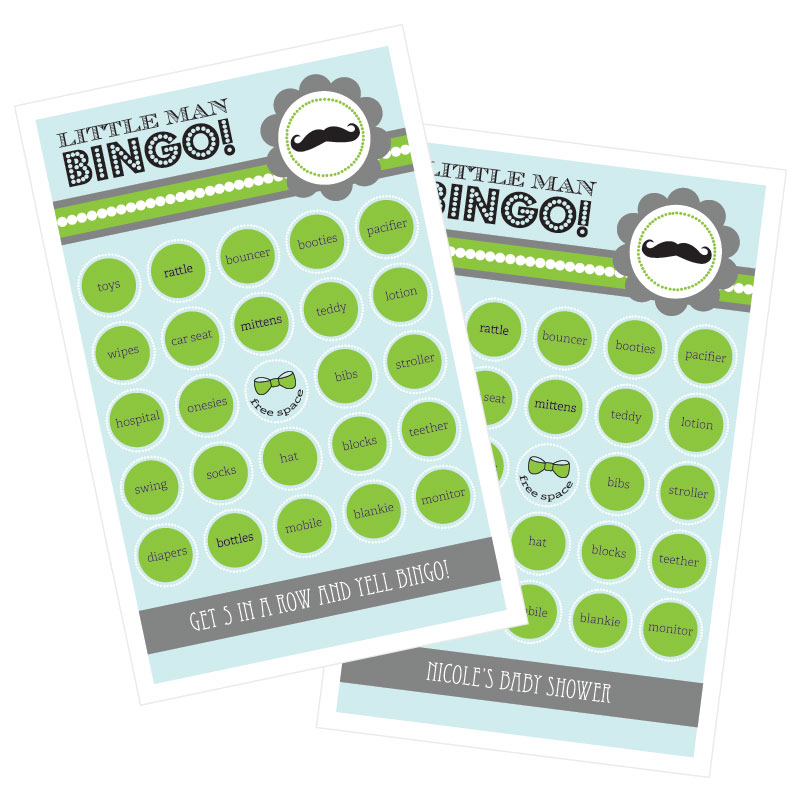 Little Man Party Bingo (set of 16) wedding favors