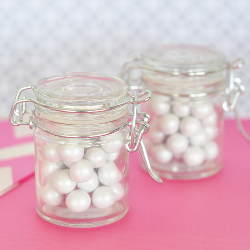 DIY Blank Glass Jar with Swing Top Lid - MINI cheap favors