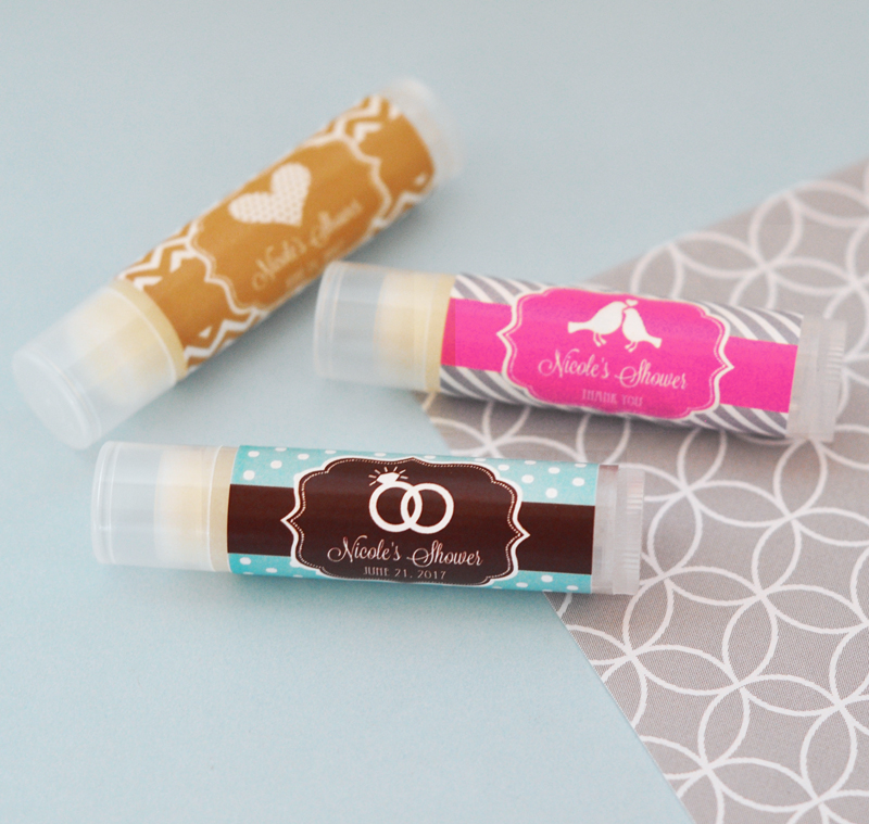 Personalized MOD Theme Silhouette Lip Balm Tubes cheap favors