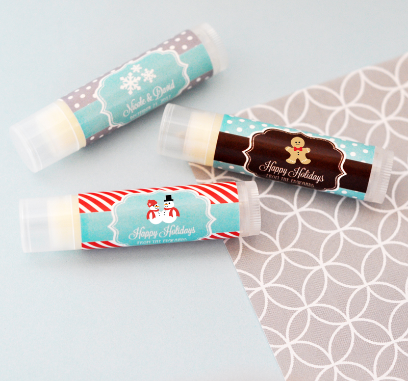 Personalized Winter Lip Balm Tubes cheap favors