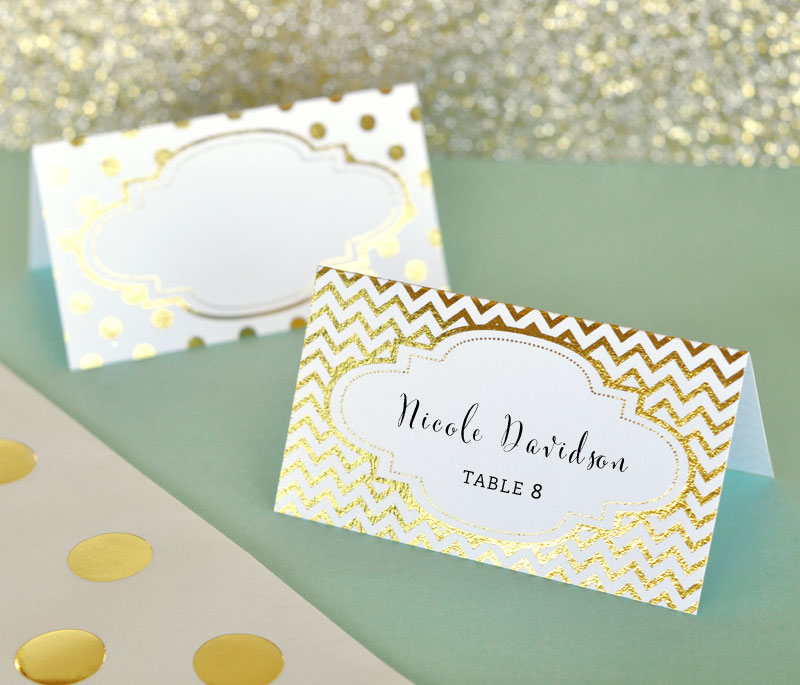 Metallic Foil Place Cards (Set of 12) cheap favors