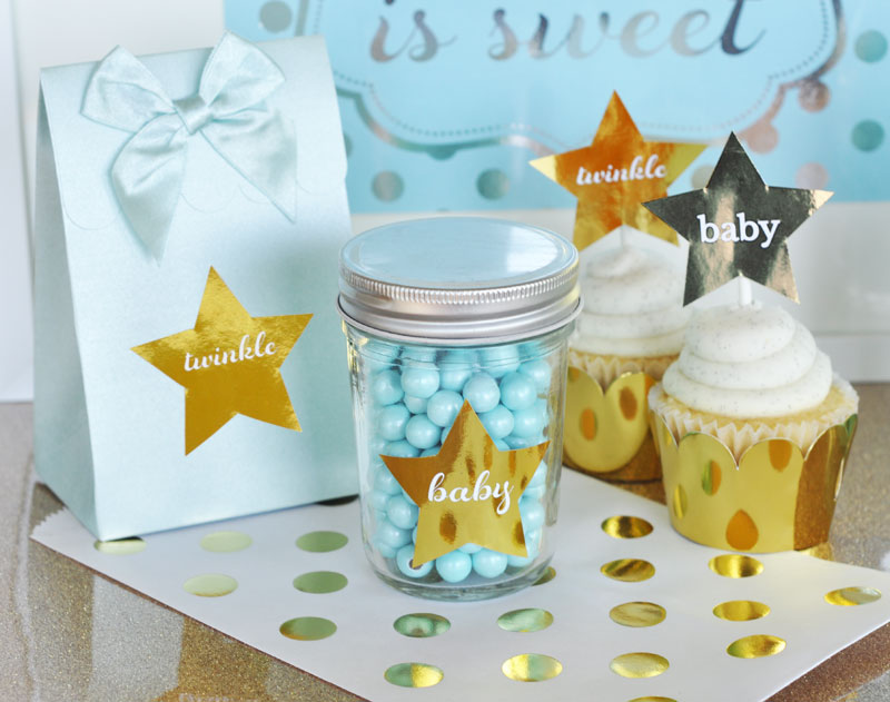 Foil Star Stickers cheap favors