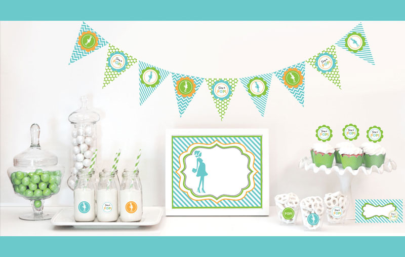 Going to Pop - Blue Decorations Starter Kit wedding favors