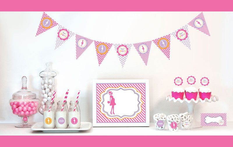 Going to Pop - Pink Decorations Starter Kit wedding favors