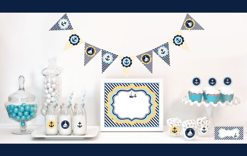 nautical baby shower decorations starter kit wedding favors