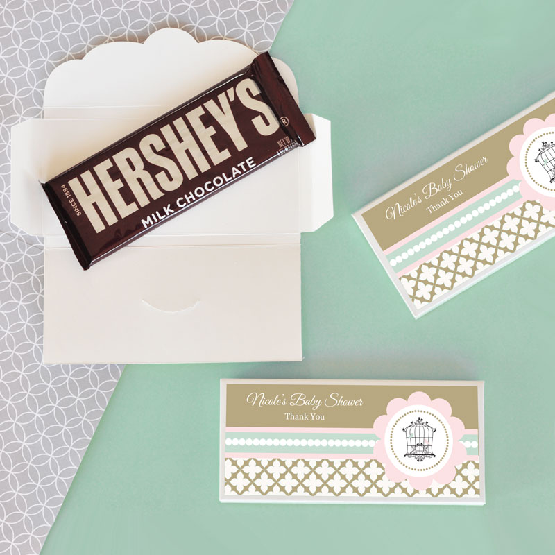 Personalized Birdcage Party Candy Wrapper Covers cheap favors