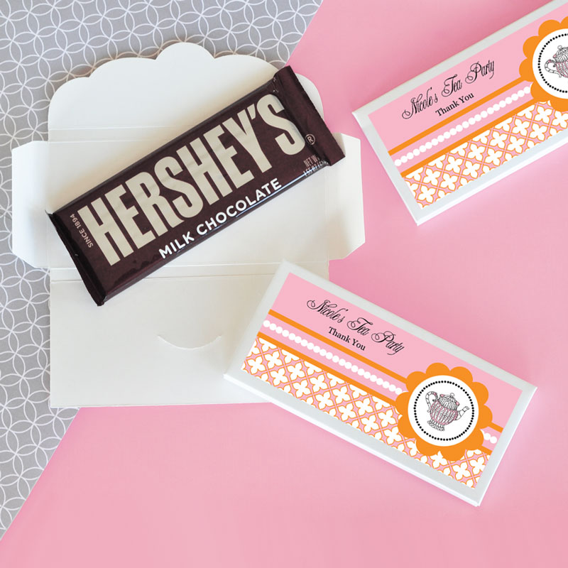 Personalized Tea Party Candy Wrapper Covers cheap favors