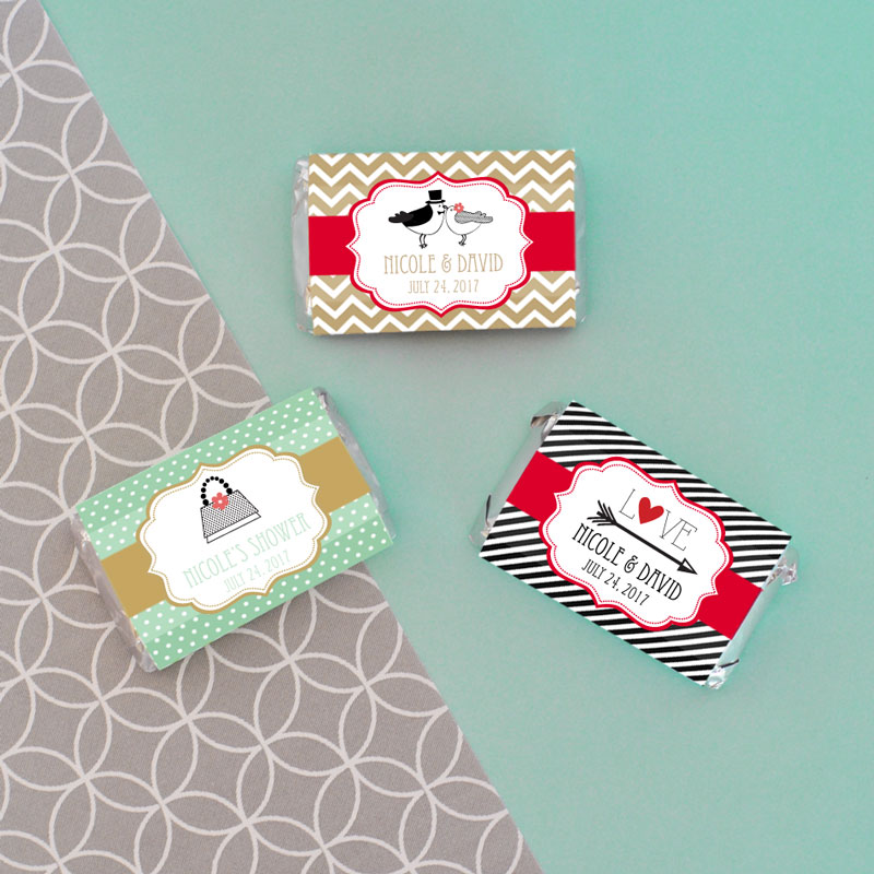Personalized Theme Mini Candy Bar Wrappers cheap favors