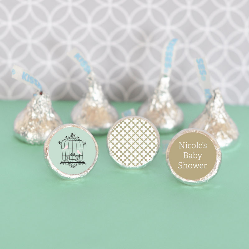 Personalized Birdcage Party Hershey's Kisses Labels Trio (Set of 108) cheap favors