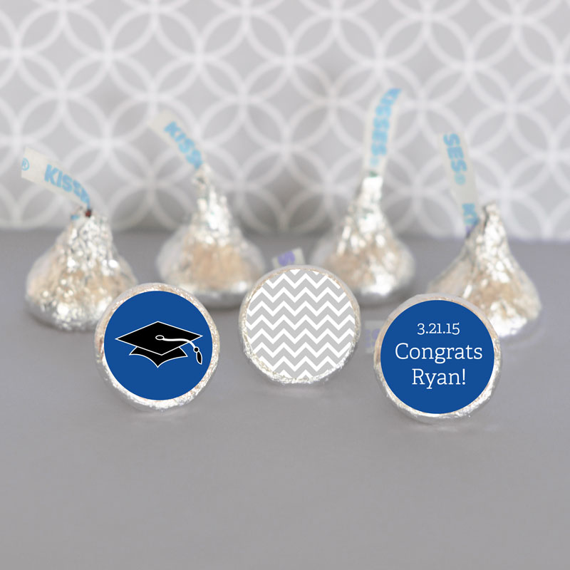 Personalized Graduation Hershey's Kisses Labels Trio (Set of 108) cheap favors