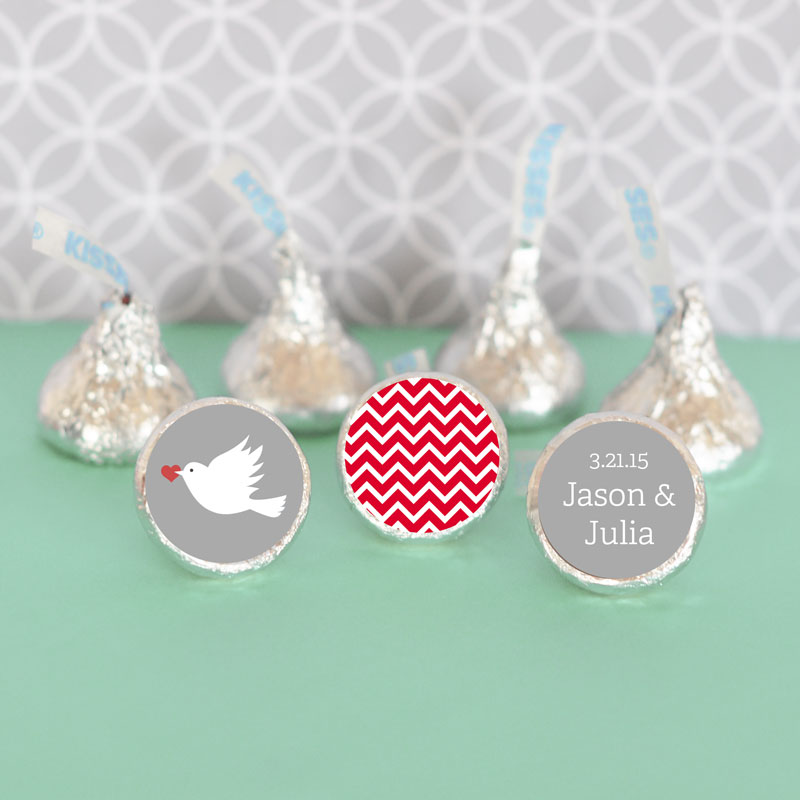 Personalized Theme Hershey's Kisses Labels Trio (Set of 108) cheap favors