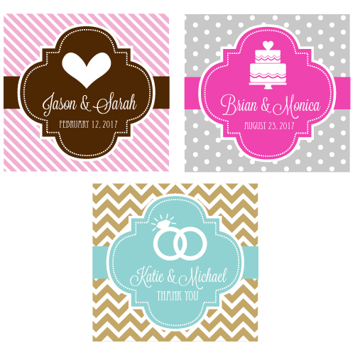 "Personalized MOD Theme Silhouette 2"" Square Favor Labels & Tags cheap favors"
