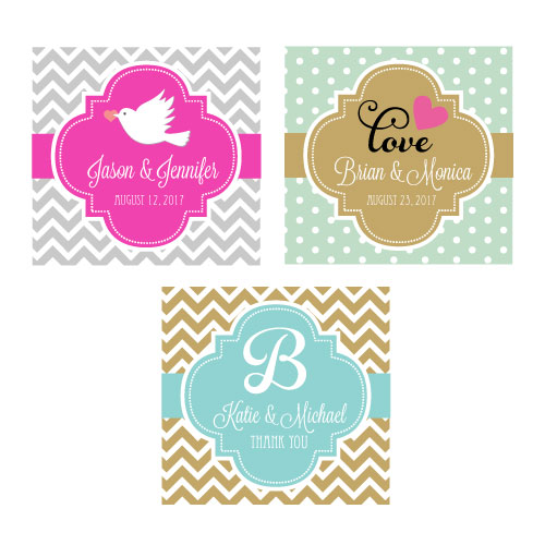 "Personalized Theme 2"" Square Favor Labels & Tags cheap favors"