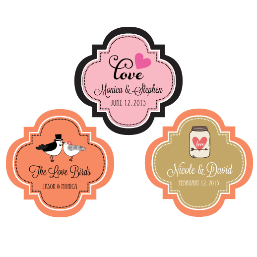 "Personalized Theme 1.5"" Mini Favor Labels cheap favors"