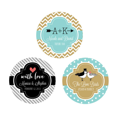 Personalized Theme Round Favor Labels cheap favors