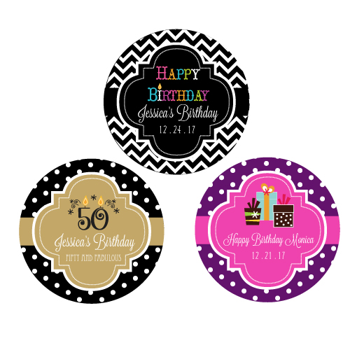 Personalized Birthday Round Favor Labels cheap favors