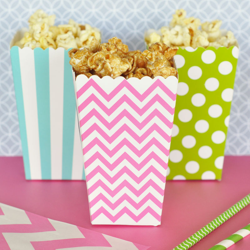 DIY Popcorn 'n Treats Boxes (Set of 12) cheap favors