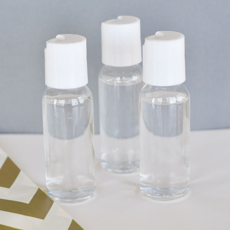DIY Blank Hand Sanitizer cheap favors