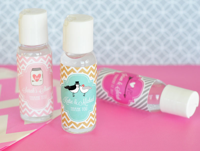 Personalized Theme Hand Sanitizer cheap favors