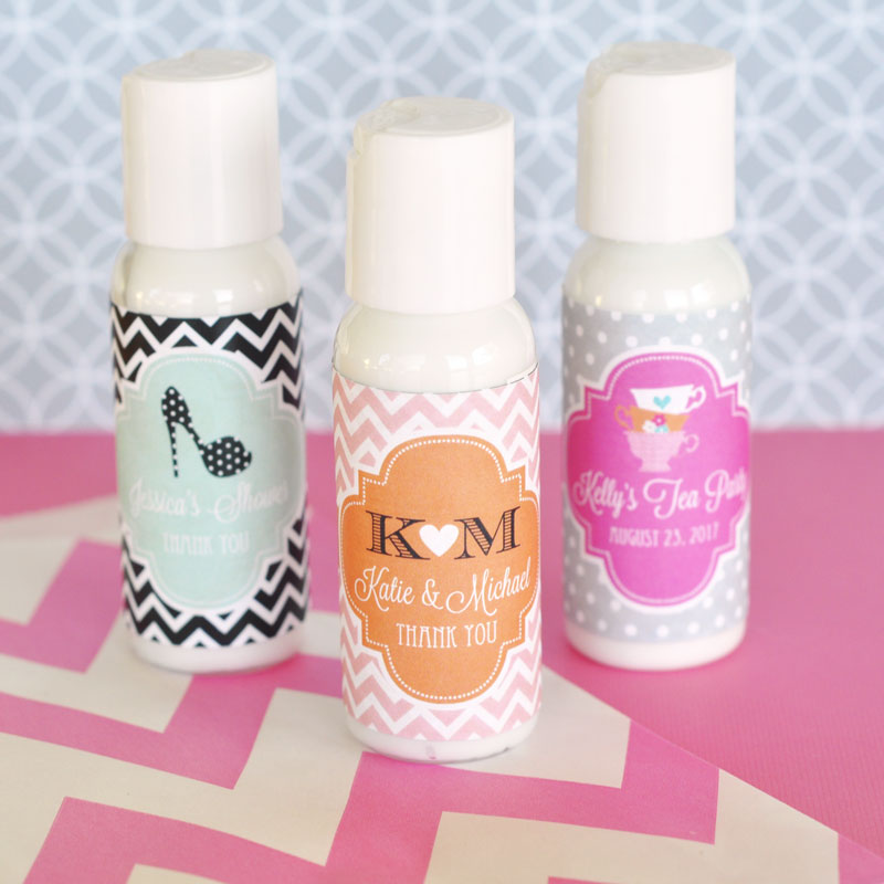 Personalized Theme Lotion cheap favors