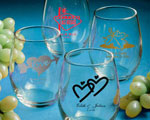 Personalized Stemless Wine Glasses cheap favors